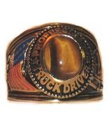 Cool! Truck Driver Men's Ring Size 12 Genuine Tigers Eye YGP Trucker - $19.99