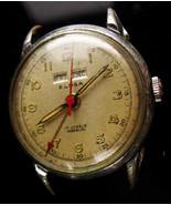 UNUSUAL Mens Eloga watch - 17 jewel - calendar brooch - antique watch - ... - $115.00