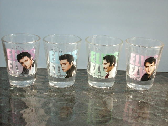ELVIS PRESLEY SHOT GLASS COLLECTION - SET OF 4, BRAND NEW!!