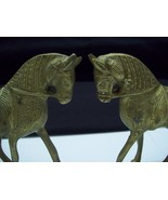 SET OF 2 BEAUTIFULLY DETAILED ORNATE BRASS HORSES - $29.99
