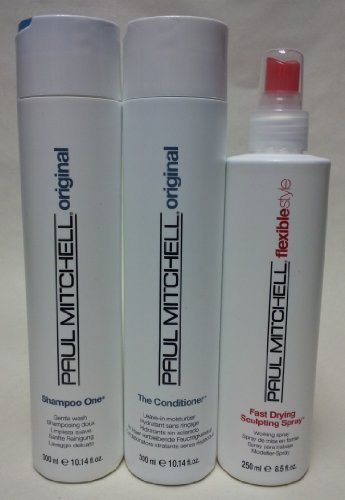 Paul Mitchell Shampoo One, the Conditioner and Fast Drying Sculpting Spray Set