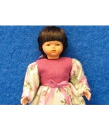 Dollhouse Dressed Girl Doll DHS1282 Caco Pink Bodice Miniature 1:12 - $33.70