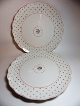 Nikko Rose Bouquet American Country (2) Dinner Plates Pink Green - $21.78