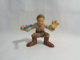 2004 Hasbro Star Wars Galactic Heroes Obi Wan Kenobi PVC Figure  - $1.73