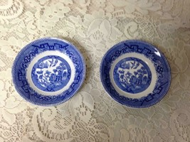 Antique, Rare, Ridgway Blue Willow 2pc Dessert-Berry Bowls  1in x 4.75in D - $23.70