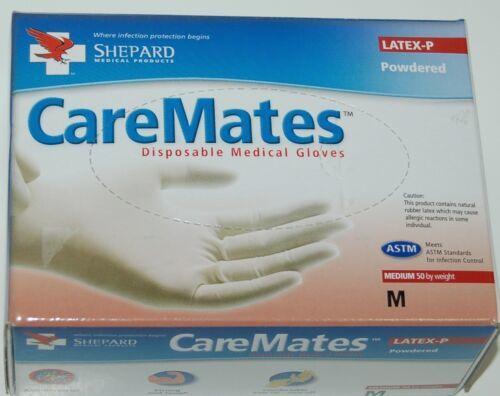 CareMates Disposable 05202020 Medical Gloves Size Medium Color White