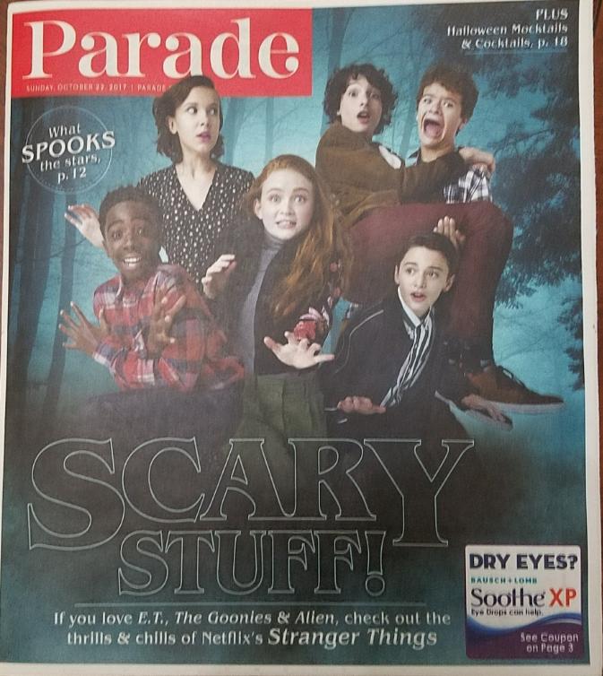 Stranger Things, Scary Stuff @ PARADE Las Vegas Mag Oct 2017 - $3.95