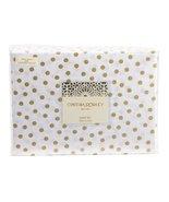 Cynthia Rowley Gold Polka Dots on White Cotton Sheet Set King - $86.00