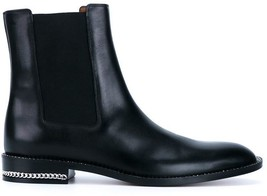 NEW $1295+ Givenchy Black Leather Chelsea boot Sz 40/US10 - £626.33 GBP