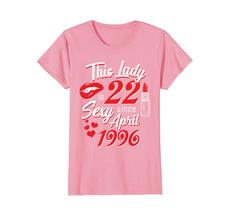 Funny Shirts - Vintage April 1996 22nd Birthday Gift 22 This Lady Awesome Wowen image 2