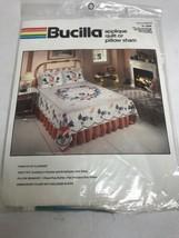 Bucilla Applique Pillow Sham Standard Size Wreath Of Flowers Kit 40224 New - $28.71
