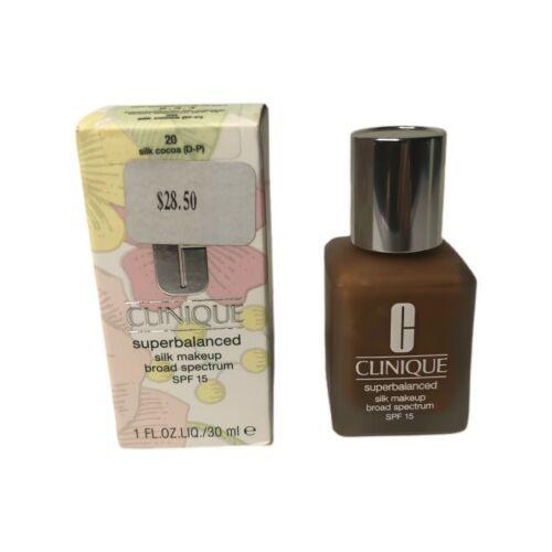 Clinique Superbalanced Makeup Silk Cocoa 20 (D-P) Spf15 1oz New In Box - $14.99