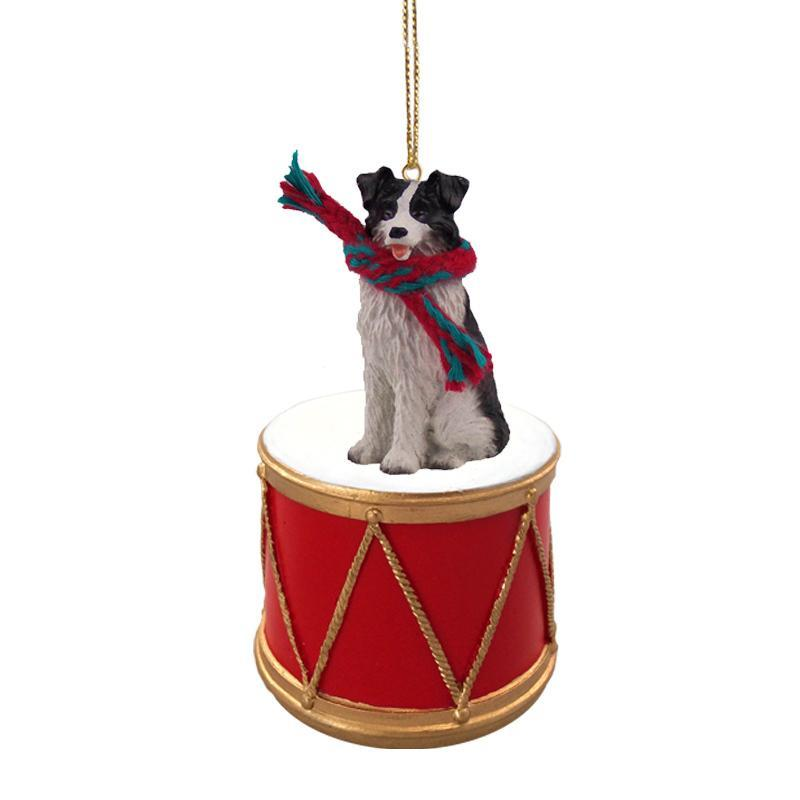 Primary image for Border Collie Drum Ornament