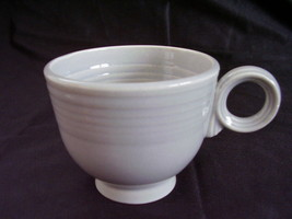 Vintage Fiestaware Gray Ring Handled Coffee Cup Fiesta - $14.40