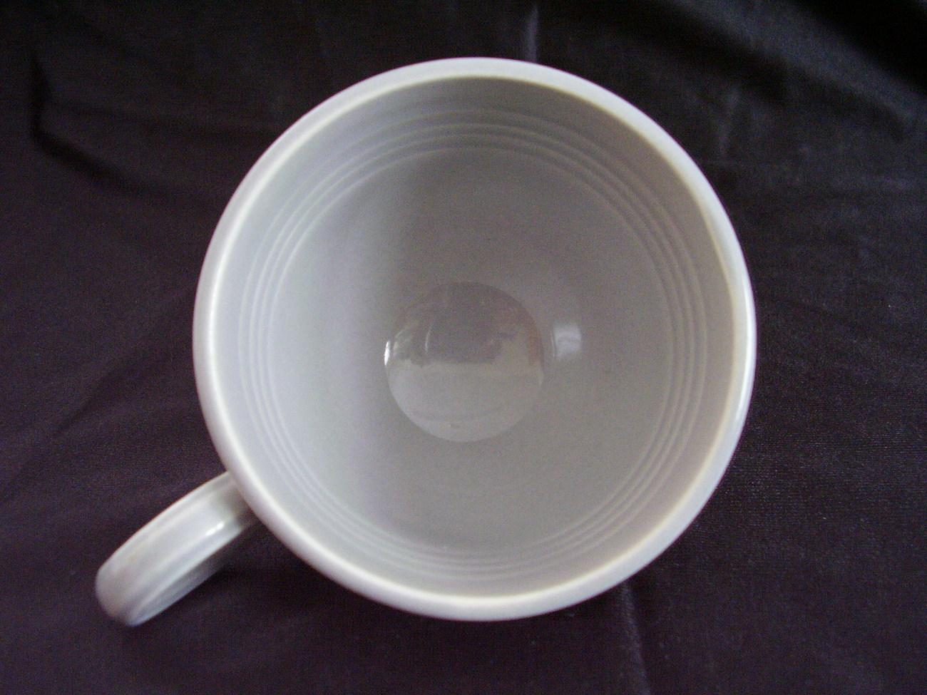Vintage Fiestaware Gray Ring Handled Coffee Cup Fiesta