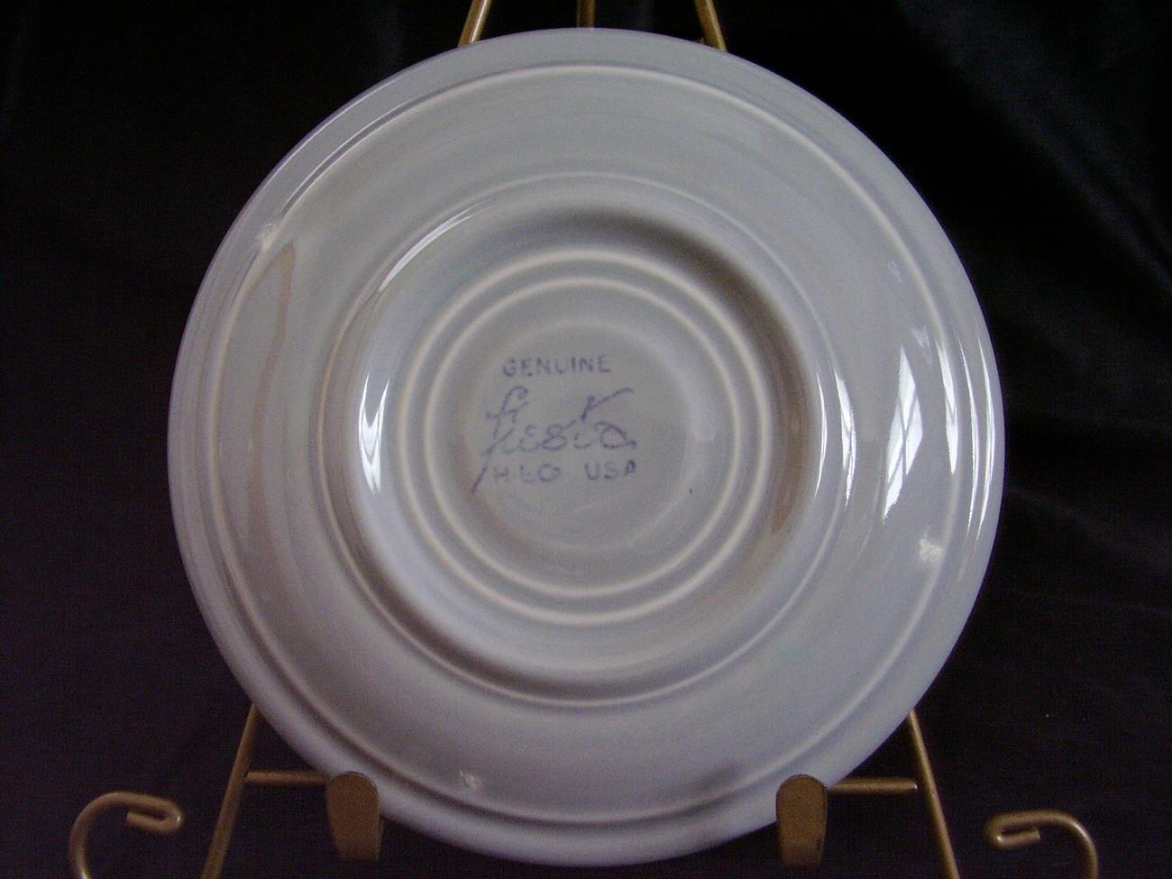 Vintage Fiestaware Gray Grey Teacup Saucer Fiesta  B