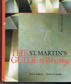 St. martin s guide to writing
