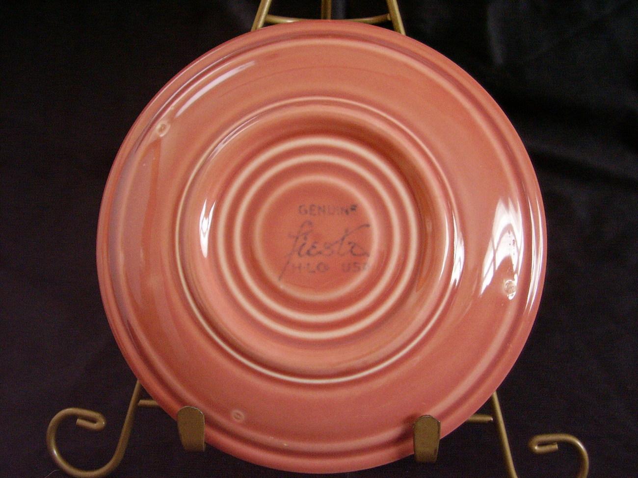 Vintage Fiestaware Rose Coffee teacup Cup Saucer  B