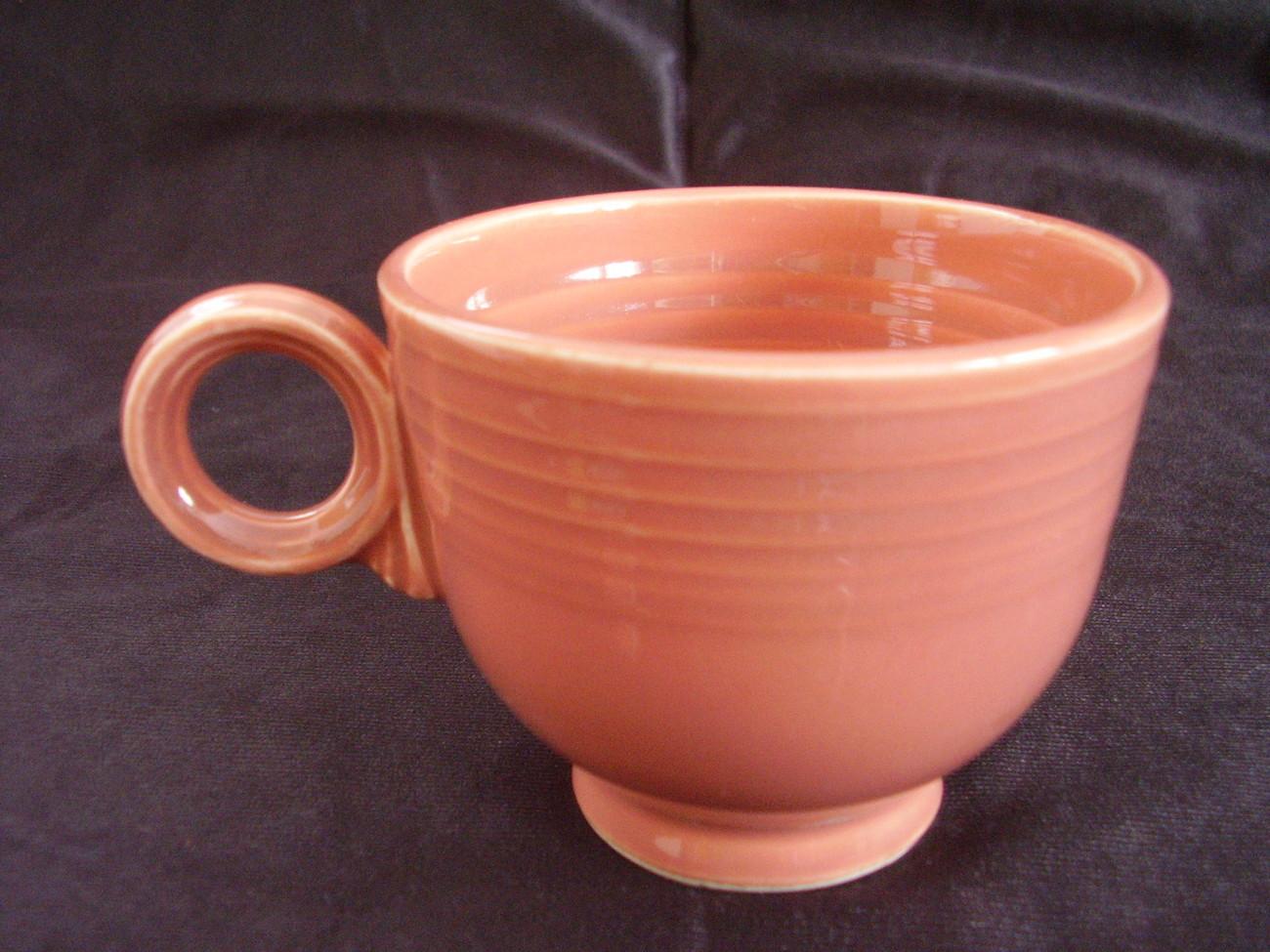 Vintage Fiestaware Rose Teacup Coffee Cup Fiesta  B