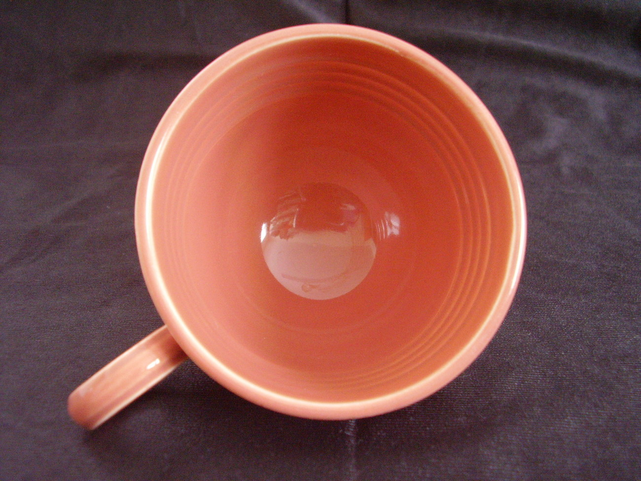Vintage Fiestaware Rose Teacup Coffee Cup Fiesta  B