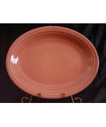Vintage Fiestaware Rose Oval Serving Platter Fiesta - $46.40