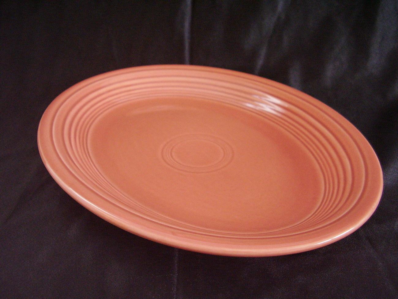 Vintage Fiestaware Rose Oval Serving Platter Fiesta
