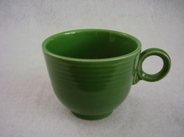 Vintage Fiestaware Medium Green Ring Handle Teacup Fiesta  C - $65.00