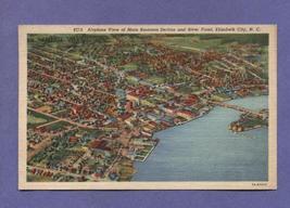 Vintage Postcard 1958 1950s Aerial Elizabeth City NC River Front Busines... - $3.99