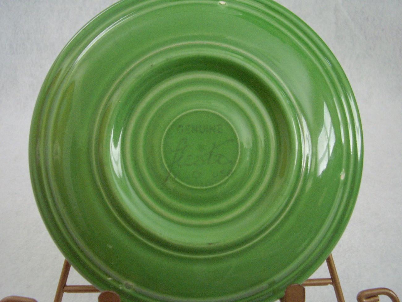 Vintage Fiestaware Medium Green Teacup Saucer Fiesta