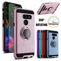 For LG G8 ThinQ Shockproof Case With Ring Holder Stand Cover + Screen Pr... - $19.00