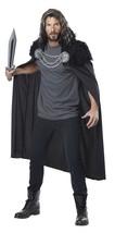 Wolf Clan Warrior Cape Men Viking Medieval Renaissance Halloween Cosplay... - $26.99
