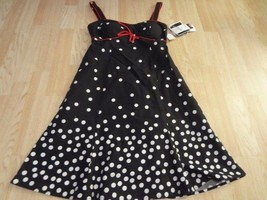 Women's R&K Sz 8P NWT Black Polk A Dot Dress - $18.49