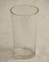 "Swirl Glassware by Brockway Clear Drinking Glass Tumbler 4-3/4"" Tall Vin... - $12.86"
