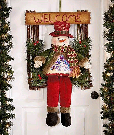"Primary image for 21"" Adorable LED Holiday Welcome Guests Greeter Snowman"