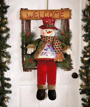 "21"" Adorable LED Holiday Welcome Guests Greeter Snowman - $30.88"