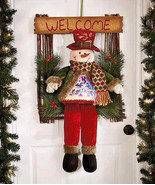 """21"""" Adorable LED Holiday Welcome Guests Greeter Snowman - $30.88"""