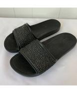 Crocs Womens size 8 Sloane Embellished Slide Sandals Sparkle Black Shoes - $29.67