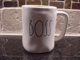 Rae Dunn BOSS Mug, Ivory with Black Lettering - $11.00