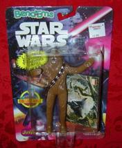 Star Wars Chewbacca Bend-Ems Just Toys 1993 square bubble - $15.00