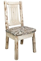 Log Dining Chairs Upholstered Rustic Amish Made Log Furniture Solid Pine... - $312.62