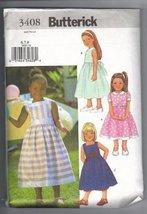 Butterick 3408 Girl's Spring/Summer Dresses, Size 6 7 8 - $13.17