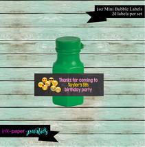 Emoji Emojis Birthday Party Mini Bubble Labels Favor Favors - We Print &... - $3.50