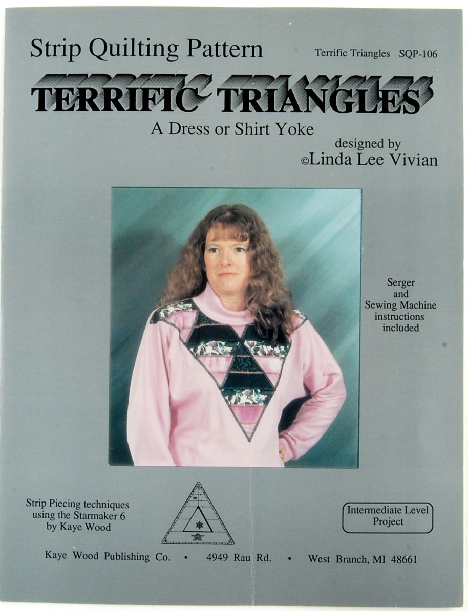 2 Strip Quilting Patterns Dress or Shirt Yokes SQP-105 SPQ-106 Linda Lee Vivian