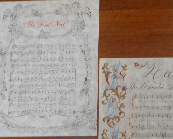Greeting Cards Set of 3 Christmas MidCentury Elegant
