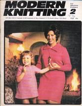 Modern Knitting for Machine Knitters Feb 1974 Magazine UK Dresses Vtg - $9.99