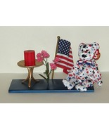 Patriotic US USA Flag, Plush, Candle Gift Arran... - $12.00