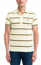 Lacoste Men's Multi Striped Light Jersey Cotton Polo Fit, Large - $54.45