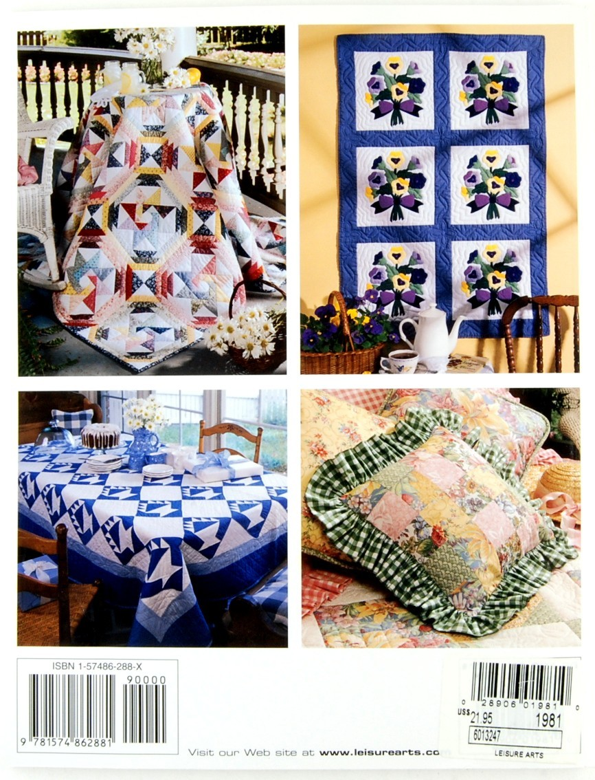 Cozy Cottage Quilts Leisure Arts Quilting Patterns Sewing