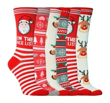 Sock Snob - Womens Fun Cute Novelty Christmas Winter Cotton Crew Socks, 5-9 US - $5.99+