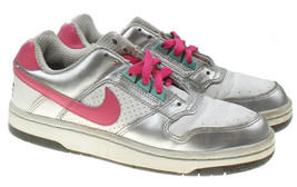 VTG Nike Dunk Low GS Silver Pink Lace-ups Athletic Sneakers Youth 4.5 / ... - $47.47